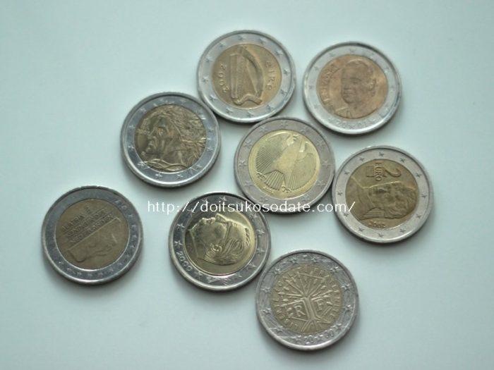 ユーロ硬貨EU各国